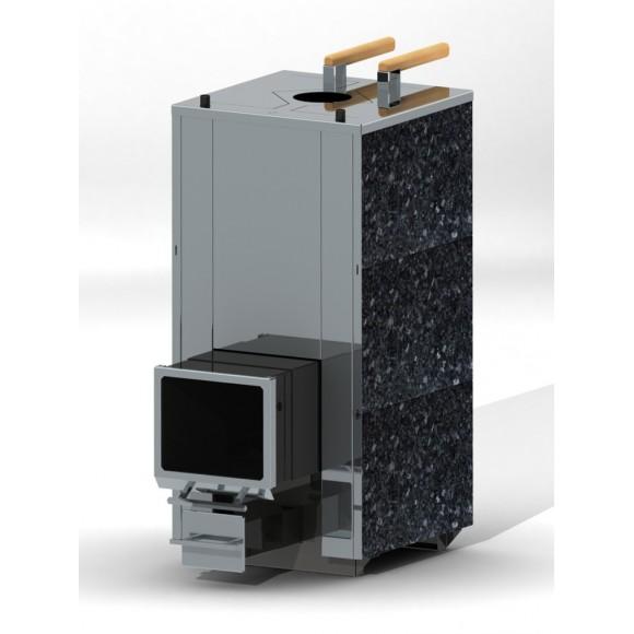 Печь банная Кваттро 18 - Маленький телескопический топливный канал (закрытая каменка)