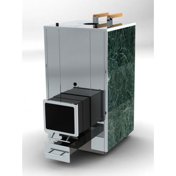 Печь банная Кваттро 25 маленький телескопический топливный канал (закрытая каменка)