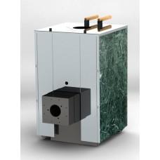 Печь банная Кваттро 35 с фланцем для газовой горелки (закрытая каменка)