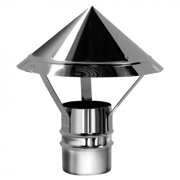 Зонт Вулкан без изоляции D150, зеркальный