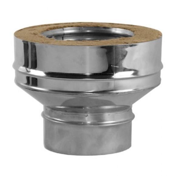 Переходник на конус моно-термо V50R Вулкан с D115 на D115/215 (AISI-321/304/0,5мм)