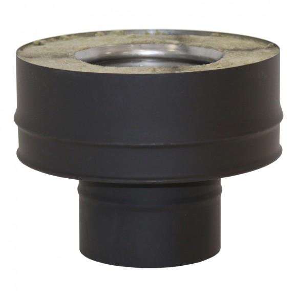 Переходник моно-термо VBR D150 (AISI-439/0,8мм), черный