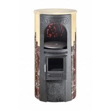 Печь отопительно-варочная Ферингер «Лада» - Сильвия Оро + Россо Леванте (до 150 м3)