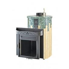 Печь банная Ферингер Мини 'До 16 м³' - Облицовка 'Змеевик + Сильвия Оро' (закрытая каменка)