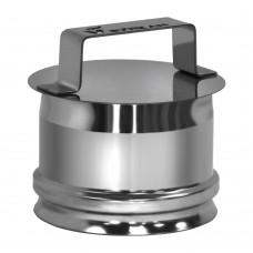 Ревизия на трубу Вулкан без изоляции D300 (AISI-321/0,5мм), матовая