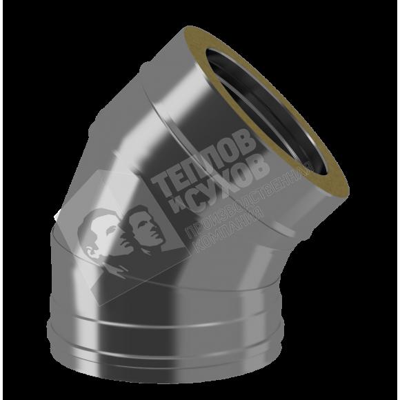 Отвод Термо 45° ТиС ОТ-Р D120/200 (AISI-430/430 0,8мм)