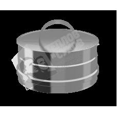 Заглушка ревизии моно ТиС ЗРМ-Р (по дыму) D130 (AISI-430/0,5мм)