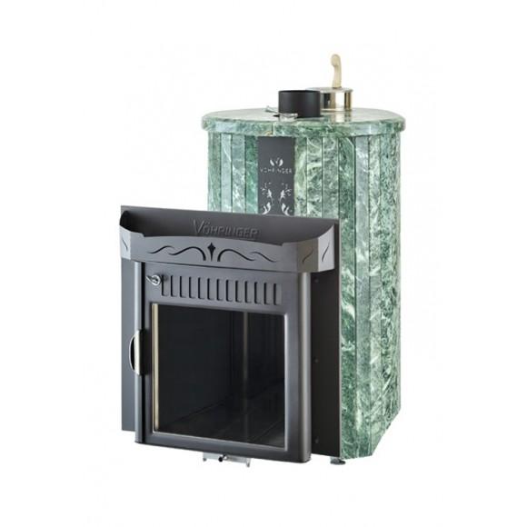 Печь банная Ферингер Оптима 'До 23 м³' - Облицовка 'Змеевик ' Цельные ламели (закрытая каменка)