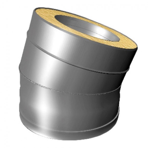 Отвод 15° V50R Вулкан D160/260 (AISI-321/304/0,5мм)