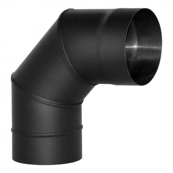 Отвод VBR 90° Вулкан без изоляции D115 (AISI-439/0,8мм), черный