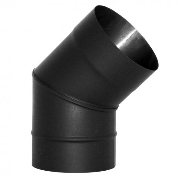 Отвод VBR 45° Вулкан без изоляции D150 (AISI-439/0,8мм), черный