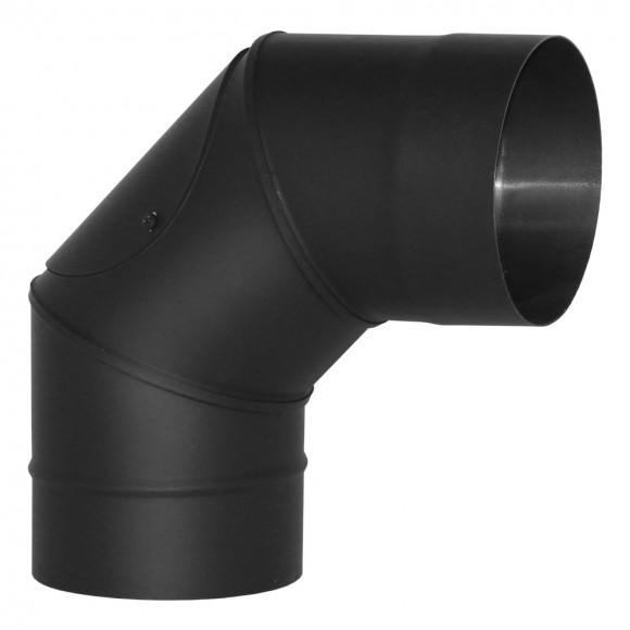 Отвод VBR 90° с ревизией Вулкан без изоляции D115 (AISI-439/0,8мм), черный