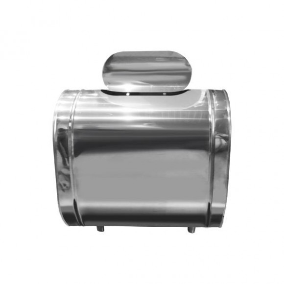 Настенный бак Дымок для воды горизонтальный (AISI-304/0,5мм) 53л