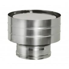Дефлектор нерж t0.5 / нерж t0.5   d130 / D210