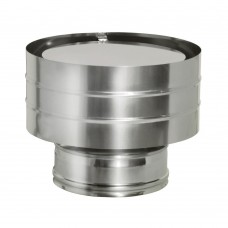 Дефлектор Дымок на трубу с изоляцией, d=150/230 (AISI 439/439, 0,5/0,5мм)