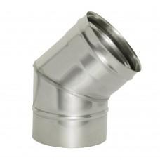 Отвод  45º Дымок без изоляции, d=120, (AISI 439/0,5мм)
