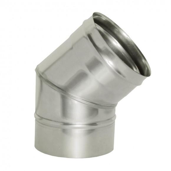Отвод  45º Дымок без изоляции, d=130, (AISI 439/0,8мм)