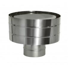 Дефлектор Дымок (зонт с ветрозащитой), d=200, (AISI 439/0,5мм)