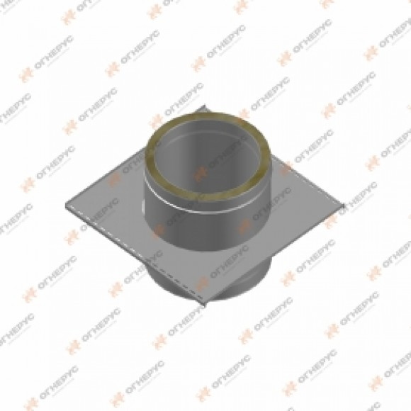 Крепление опорное Огнерус Термо d130/200, A300xВ300, (AISI 430/ОЦ, 0,8/0,5мм)