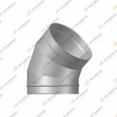 Отвод 45º Огнерус Моно, d130 (AISI 430/1,0мм)