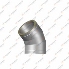 Отвод 45º Огнерус Термо,d100/160 (AISI 430/430 0,5/0,5мм)