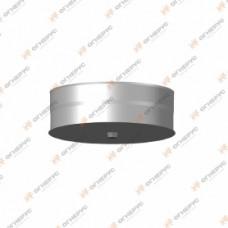 Заглушка Огнерус Моно с конденсатоотводом d100, (AISI 430/0,5мм) (тип 1)