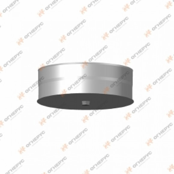 Заглушка Моно с конденсатоотводом тип1 нерж, t0.5  d110