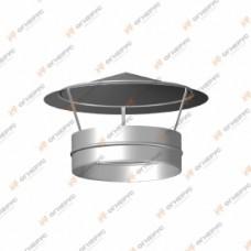 Зонт Огнерус Моно с хомутом d100, (AISI 430/0,5мм)