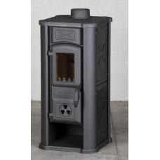 Печь-камин Tim Sistem Diana c черными металлическими вставками