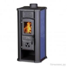 Печь-камин Tim Sistem Diana c голубыми металлическими вставками
