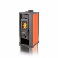 Печь-камин Tim Sistem Diana c оранжевыми керамическими вставками