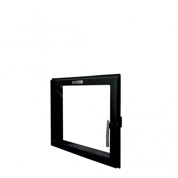 Дверка металлическая со стеклом 500*410