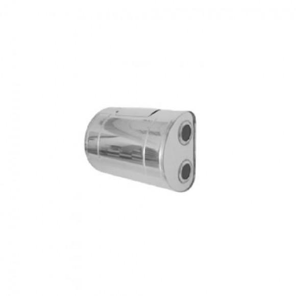 Бак для теплообменника УМК горизонтальный, правый 80л (нерж/0.8мм) (Тритон)