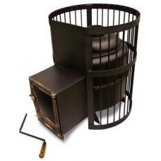 Чугунная Банная Печь Тигра в клетке Стандарт (до 30 м³)