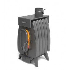 Печь отопительно-варочная Термофор Огонь-батарея 9Б Лайт с баком, дровяная, антрацит