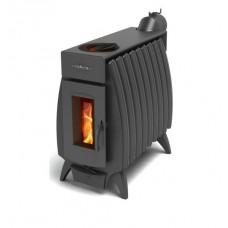 Печь отопительно-варочная Термофор Огонь-батарея 9Б с баком, дровяная, антрацит