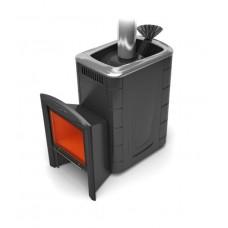 Печь для бани TMF Гейзер 2014 Carbon Витра ЗК, антрацит (до 18 м3)