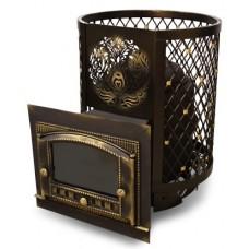 Чугунная Банная Печь Тигра в клетке Восточная красавица (до 30 м³)